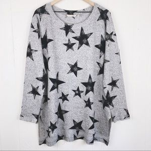 Soft Surroundings Distressed Star Long Sleeve Top